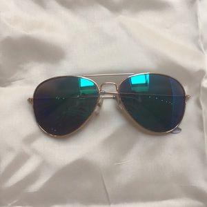 $4 dollar sunnies! Blue reflective aviator